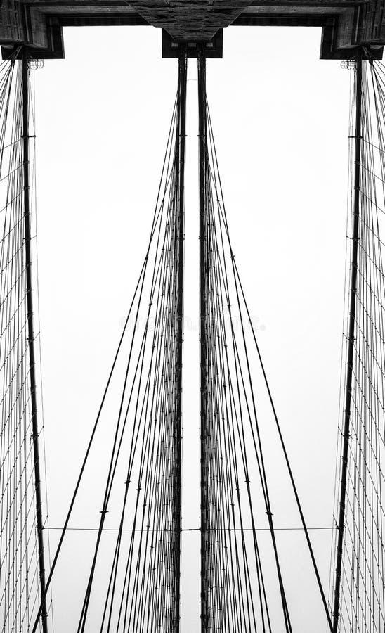 De brug van Brooklyn van de stad van New York royalty-vrije stock foto's