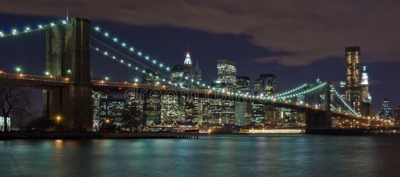 DE BRUG VAN BROOKLYN VAN DE STAD VAN NEW YORK stock foto's