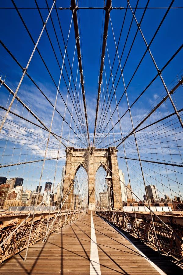 De Brug van Brooklyn van de Stad van New York stock fotografie