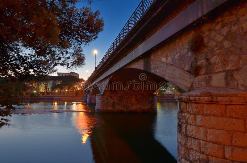 De brug van Chiavari stock fotografie