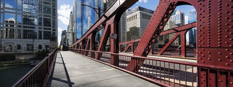 De brug van Chicago, de V.S. stock foto