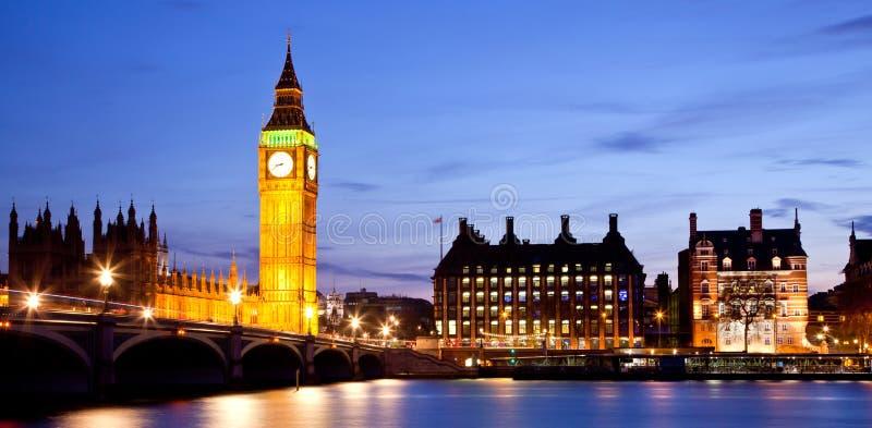 De Brug van de Big Ben en van Westminster stock foto