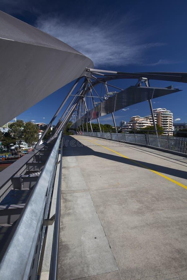 De Brug van de goodwill over de Rivier van Brisbane stock foto