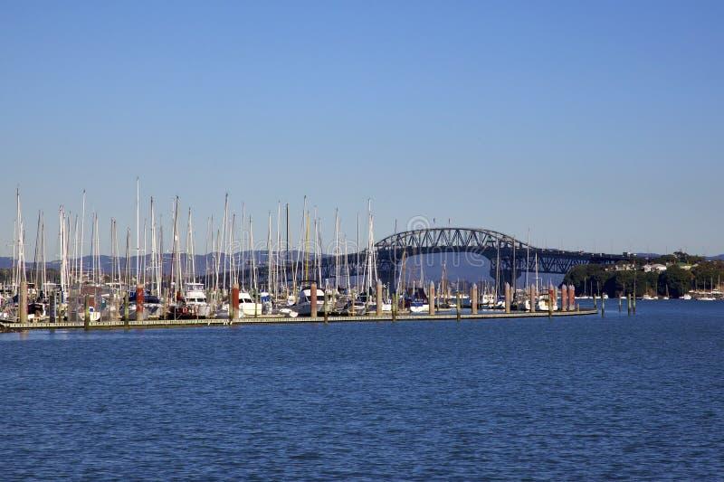 De Brug van de Haven van Auckland stock fotografie