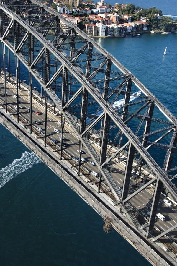 De Brug van de Haven van Sydney. royalty-vrije stock afbeelding