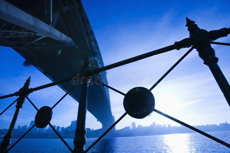 De Brug van de Haven van Sydney, Australië. royalty-vrije stock foto