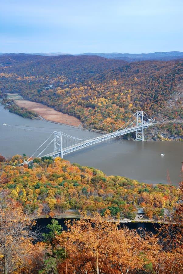 De brug van de herfst royalty-vrije stock foto