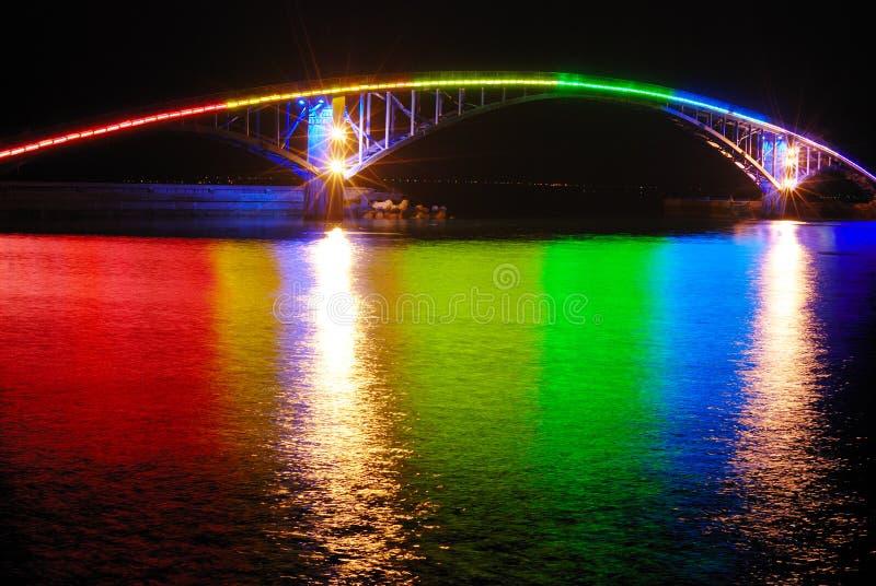 De brug van de regenboog royalty-vrije stock foto