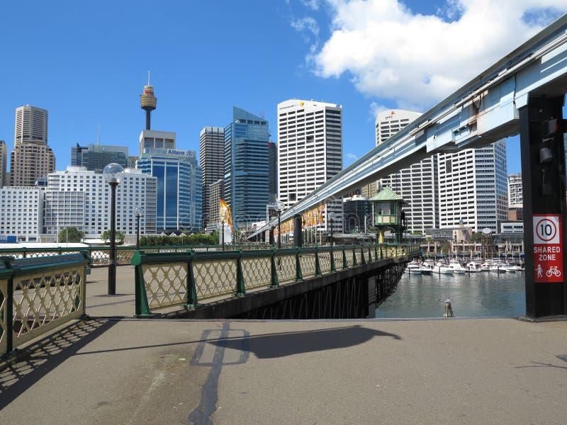 De brug van de schommeling opent, Sydney stock fotografie