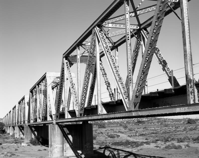 De brug van de spoorweg stock foto