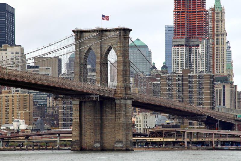 De Brug van de Stad & van Brooklyn van New York stock foto's