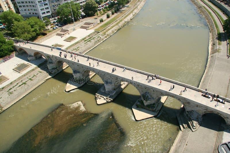 De brug van de steen royalty-vrije stock afbeelding