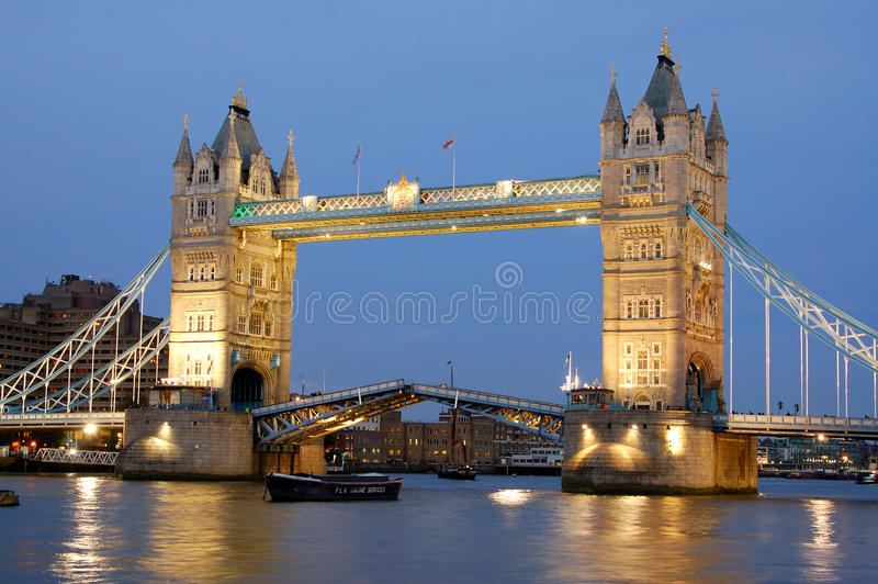 De Brug van de toren, Londen, het UK royalty-vrije stock afbeelding