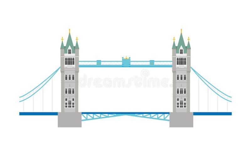 De Brug van de toren, Londen, het UK Vector illustratie royalty-vrije illustratie