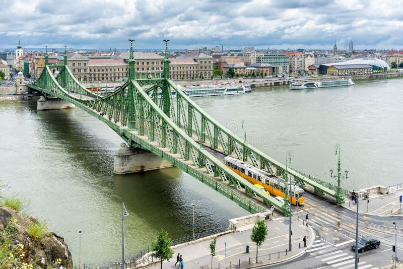 De brug van de vrijheid in Boedapest royalty-vrije stock fotografie