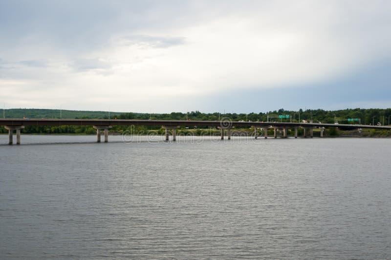De Brug van de Westmorlandstraat - Fredericton - Canada stock fotografie