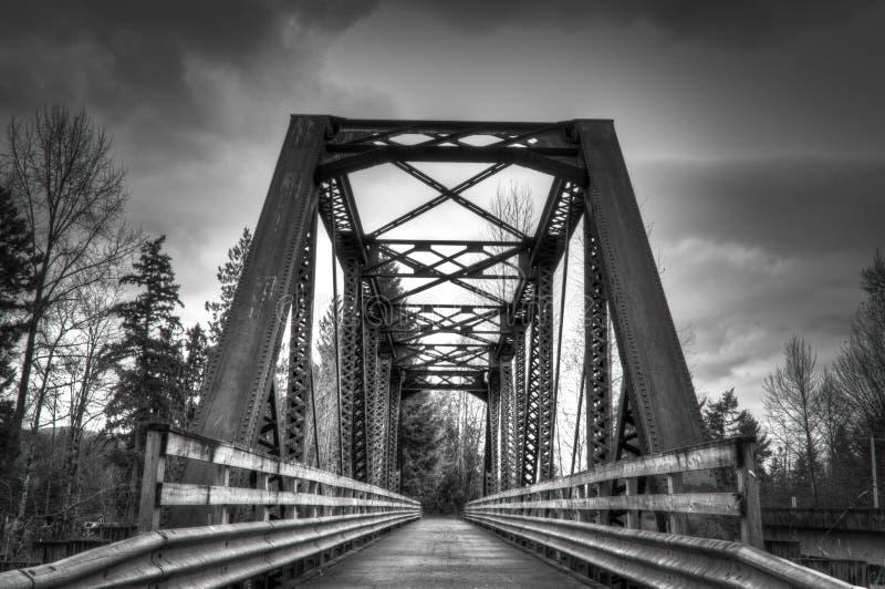 De brug van de winter stock fotografie