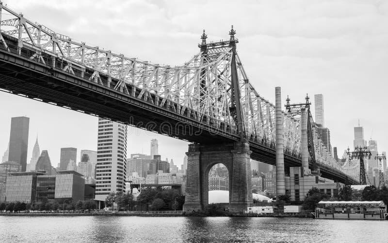 De Brug van ED Koch Queensboro van het Queens, de Stad van New York, de V.S. stock foto