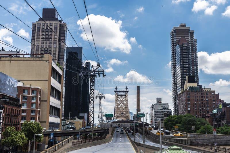 De Brug van ED Koch Queensboro de Stad in van Manhattan, New York, de V.S. stock foto's