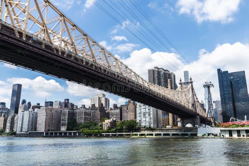 De Brug van ED Koch Queensboro de Stad in van Manhattan, New York, de V.S. royalty-vrije stock foto