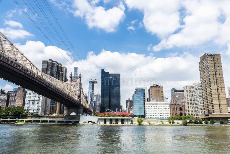 De Brug van ED Koch Queensboro de Stad in van Manhattan, New York, de V.S. stock foto