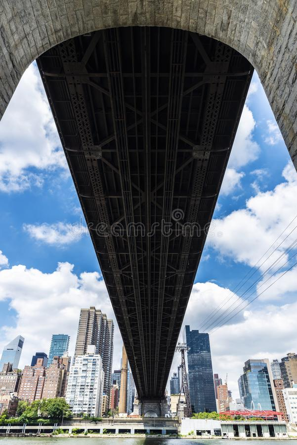 De Brug van ED Koch Queensboro de Stad in van Manhattan, New York, de V.S. stock afbeeldingen