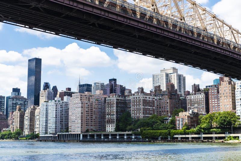 De Brug van ED Koch Queensboro de Stad in van Manhattan, New York, de V.S. royalty-vrije stock afbeeldingen