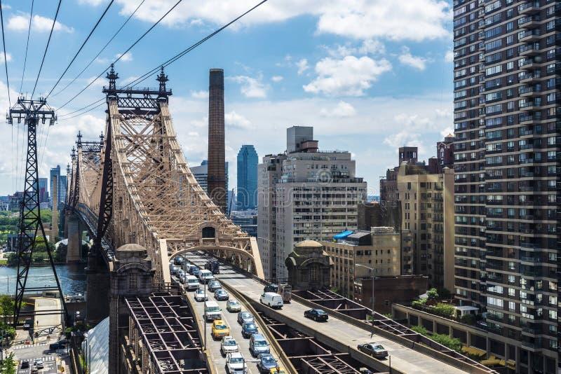 De Brug van ED Koch Queensboro de Stad in van Manhattan, New York, de V.S. stock fotografie