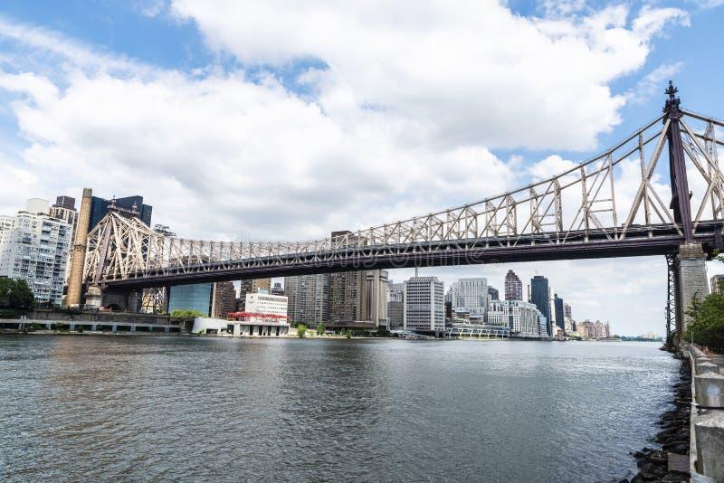 De Brug van ED Koch Queensboro de Stad in van Manhattan, New York, de V.S. royalty-vrije stock fotografie