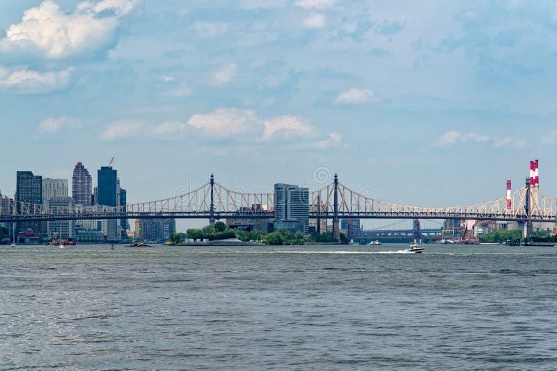 De Brug van ED Koch Queensboro in de Stad van New York stock afbeeldingen