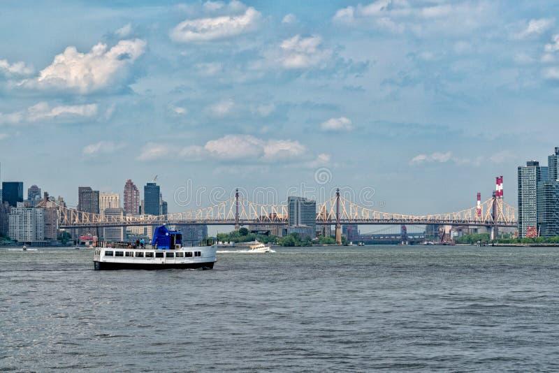 De Brug van ED Koch Queensboro in de Stad van New York stock afbeelding