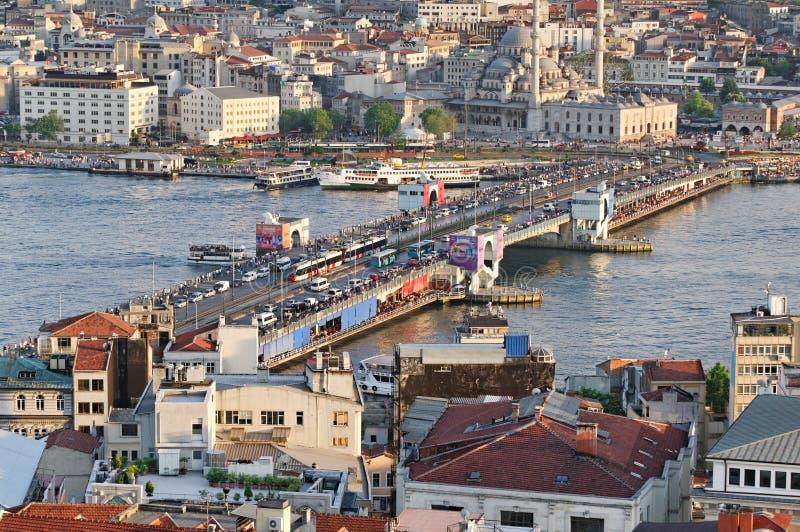 De Brug van Galata, Istanboel royalty-vrije stock afbeeldingen