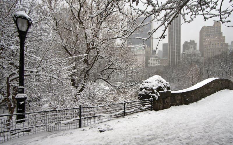 De brug van Gapstow in de winter royalty-vrije stock foto's