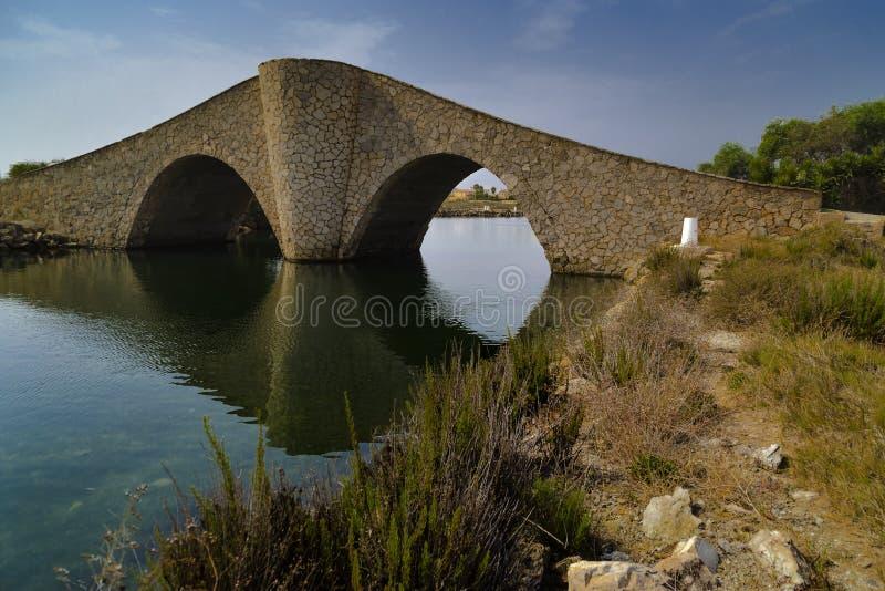De brug van gelach murcia stock foto