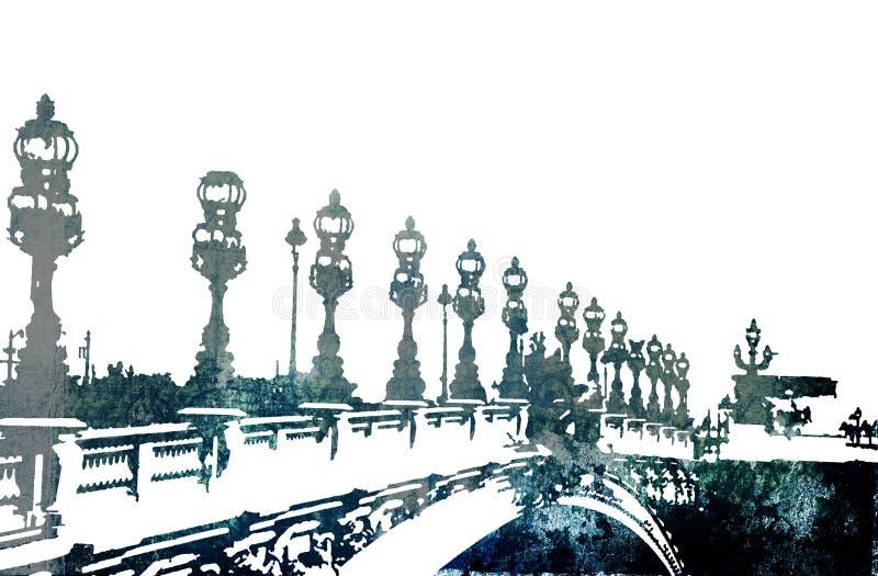 De brug van Grunge in Parijs