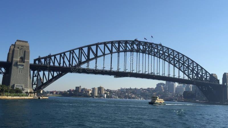 De Brug van de Haven van Sydney en het Huis van de Opera van Sydney stock foto's