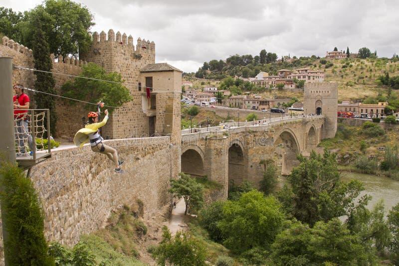 De brug van heilige Martin ` s in Toledo, Spanje stock foto's