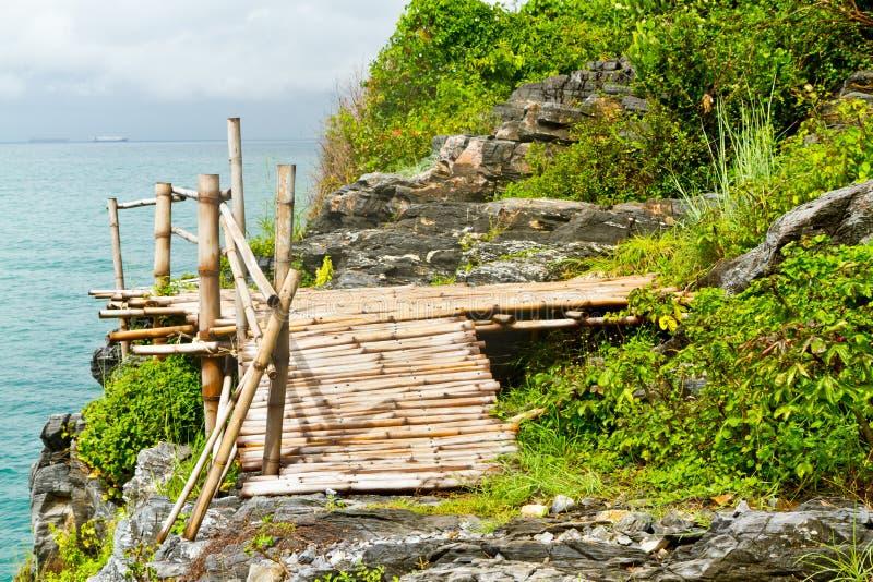 De brug van het bamboe royalty-vrije stock afbeeldingen