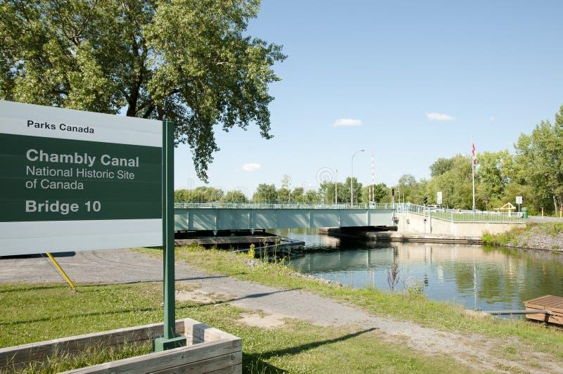 De Brug van het Chamblykanaal - Quebec - Canada royalty-vrije stock fotografie