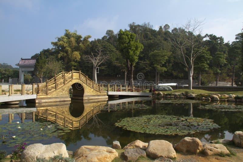 De brug van het koper stock afbeeldingen