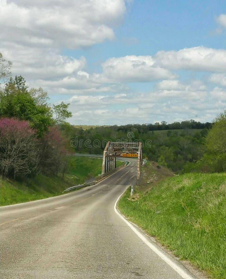De brug van het land royalty-vrije stock foto