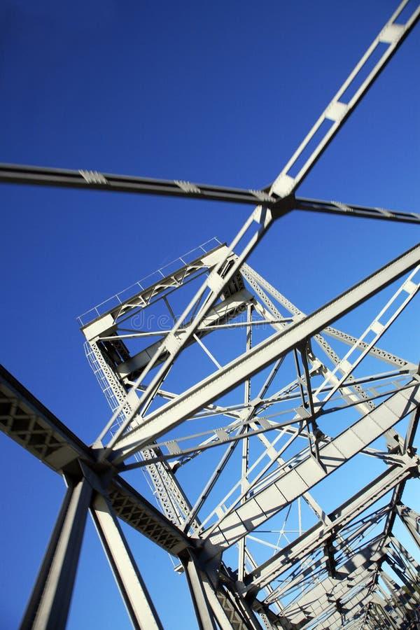 De brug van het metaal stock afbeeldingen