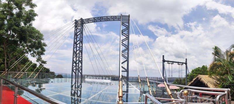 De brug van het panoramaglas in Yanoda royalty-vrije stock foto