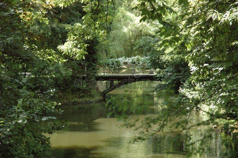 De brug van het park royalty-vrije stock afbeelding
