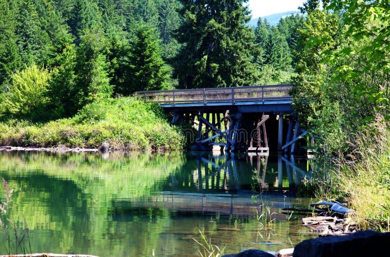 De brug van het Reservoir van Dorena stock afbeeldingen