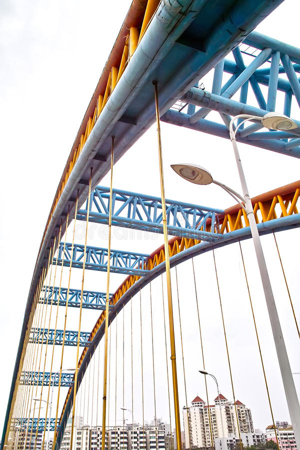 De brug van het staal stock foto
