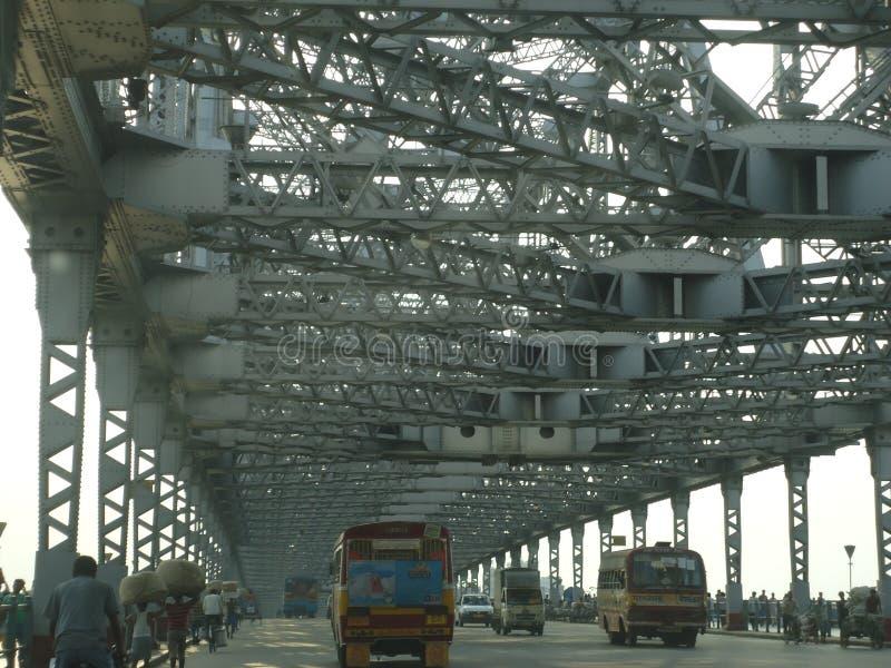 De brug van Howrah in Kolkata India royalty-vrije stock foto