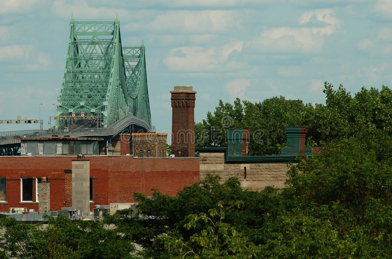 De brug van Jacques Cartier, Montreal, Canada (3). royalty-vrije stock foto