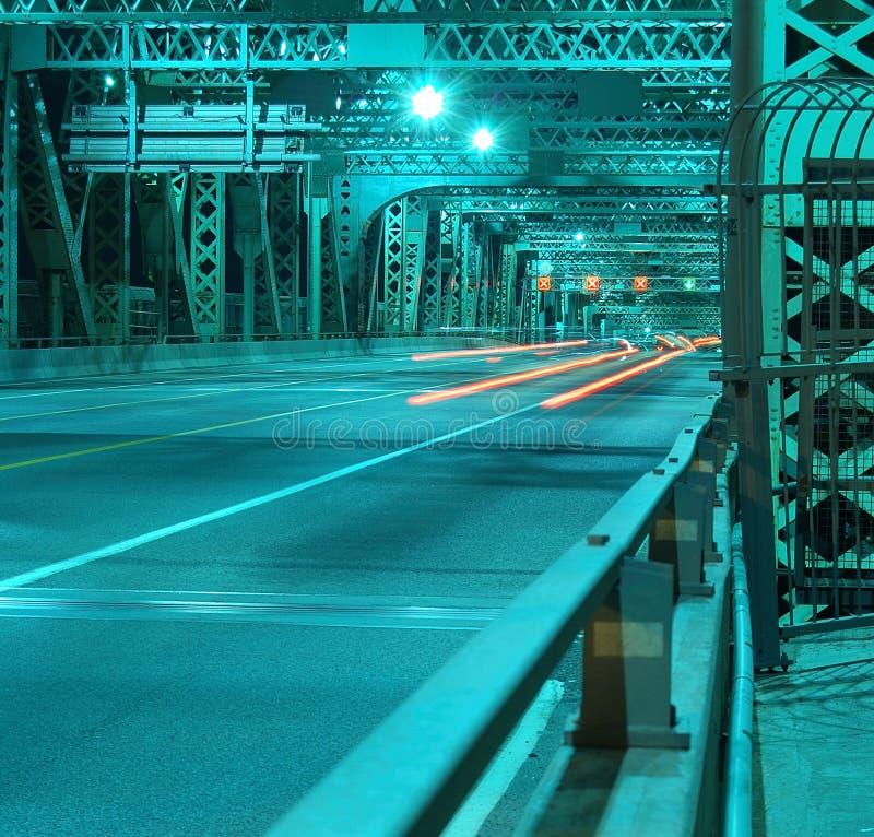 De brug van Jacques Cartier, Montreal, Canada. royalty-vrije stock fotografie