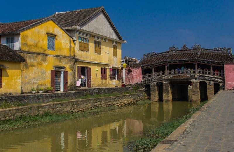 De brug van Japan in Hoian. Vietnam royalty-vrije stock foto's